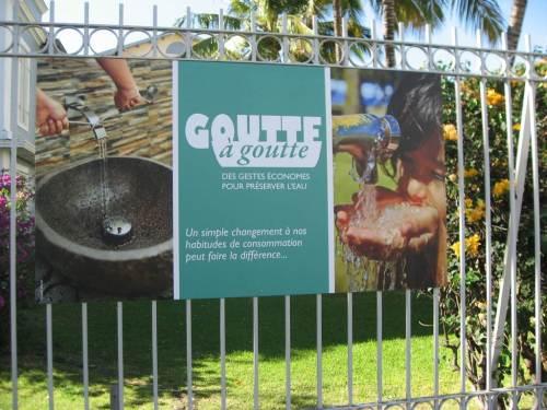 l'eau, une ressource précieuse qu'il faut économiser.