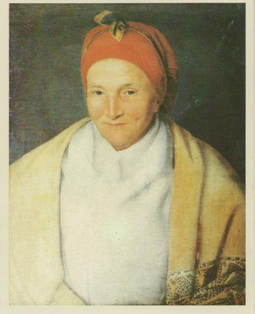 Peinture représentant Mme Desbassayns  (Musée de Villèle)