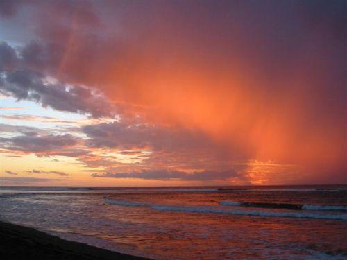 Ciel de veille de cyclone