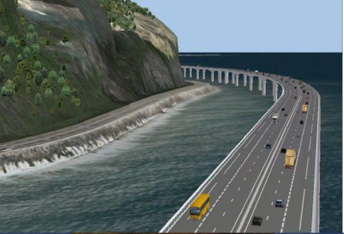 Quelle sécurité pour une route construite en plein Océan ?