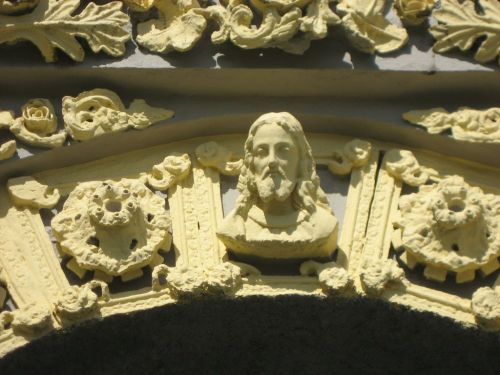Détails de la décoration de la façade.