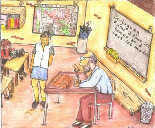 La classe de latin (illustr. Huguette Payet).
