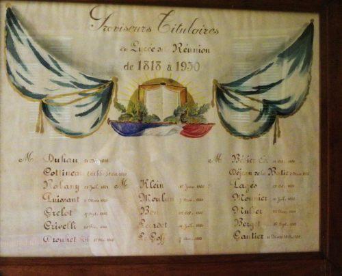 Les Proviseurs qui se sont succédé de 1818 à 1930.