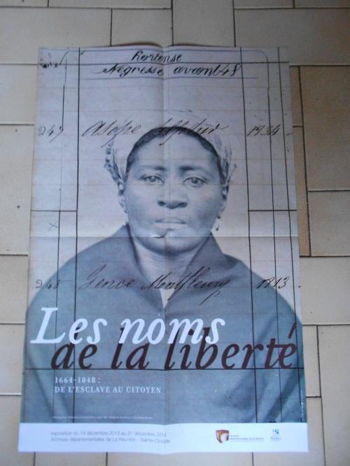 Affiche de l'exposition : les noms de la liberté