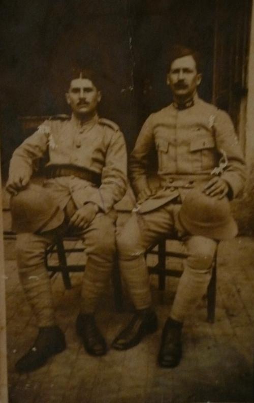 Carte postale/photo de soldats envoyée de Salonique (6)