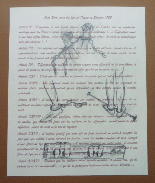 Le Code Noir et les chaînes de l'esclavage, Image MCDF.