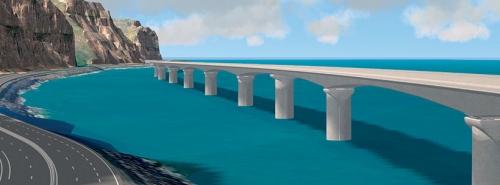 Quelle sécurité sur ce viaduc lors des cyclones et des raz - de - marée ? (image proxy.)