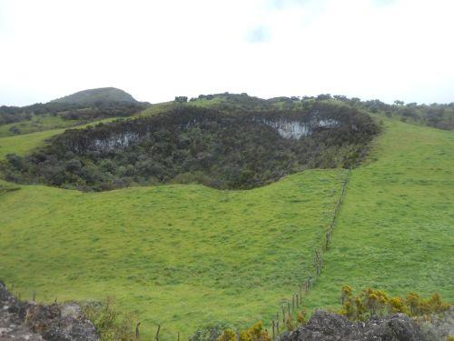 L'un des Trous blancs de la Plaine des Cafres (route du volcan)