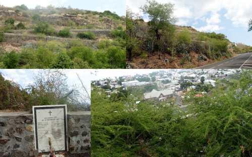 Rampes de Plateau Caillou et stèle commémorative. Montage