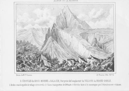 Eboulis du 26 novembre 1875. (Album de Roussin)