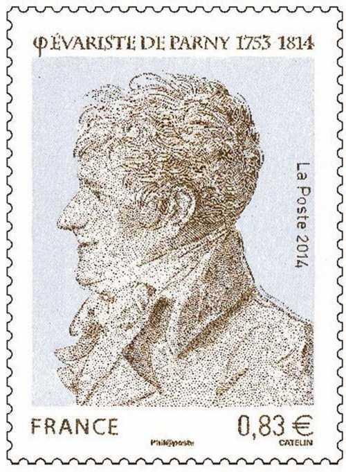 Timbre édité à l'occasion du bicentenaire de la mort de Parny.