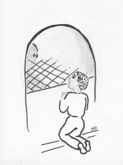 L'entrée du tunnel…(illustration MAB.)